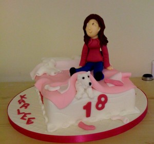 Novelty 18th birthday cake