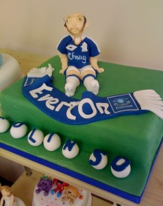 Novelty Everton theme Birthday cake