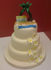 Caribbean Theme Wedding Cake