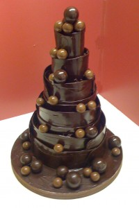 Dark Chocolate Wrapped Wedding Cake