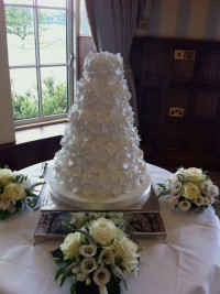 Five Tier Wedding Cake Covered In SugarCraft Petals